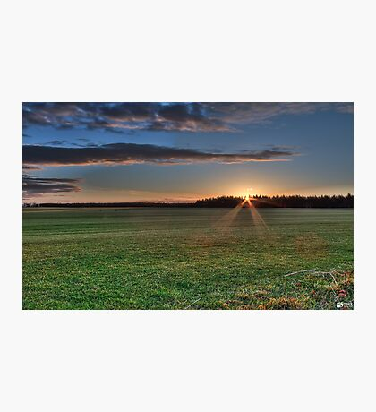 Sunrise in White Kirk Photographic Print