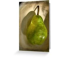 Green Pear # 7 Greeting Card