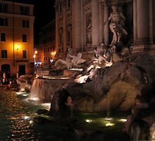Trevi Fountain - Rome,Italy by hjaynefoster