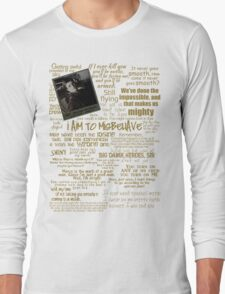Captain Quotes Long Sleeve T-Shirt