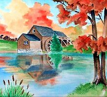 Mabry's Mill (Fall Color) by BobHenry