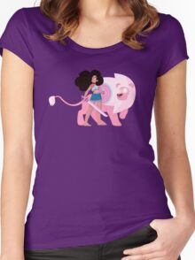 Stevonnie and Lion Women's Fitted Scoop T-Shirt
