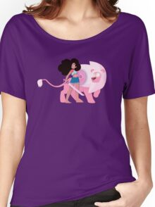 Stevonnie and Lion Women's Relaxed Fit T-Shirt