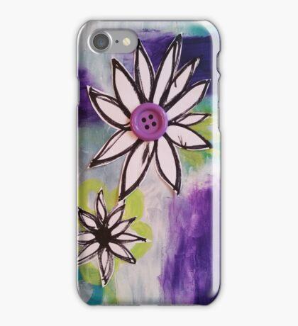 Purple Button iPhone Case/Skin