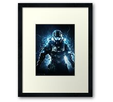 Halo 4 Master Chief - Through the Storm Framed Print