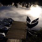 boats floating in clouds by Cheryl Dunning