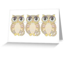 Triplet Cats Greeting Card