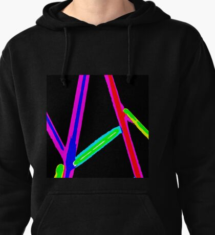 2010 1960s Abstract  Pullover Hoodie
