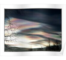 """""""Mother Of Pearl Clouds 1"""" Poster"""