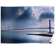 The Forth Road Bridge, North Queens Ferry. Poster
