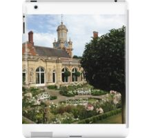 The clock tower in the white garden at Somerleyton Hall iPad Case/Skin