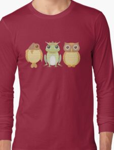 Fish Frog Owl Long Sleeve T-Shirt