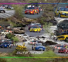rally cars and lake  by TIMKIELY