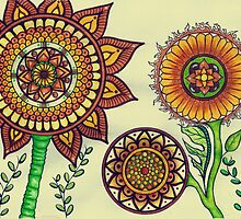 Three Sunflowers by Misrella