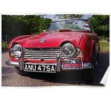 1963 Red Triumph TR4 Poster