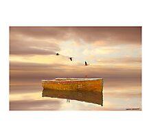 Drifting Boat Photographic Print