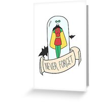 Stephanie Brown: Never Forget Greeting Card