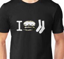 I Burger Socks - Dark Unisex T-Shirt