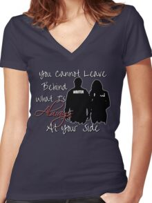 Always At Your Side Women's Fitted V-Neck T-Shirt