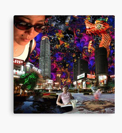 Emma's Sunglasses - digital art Canvas Print