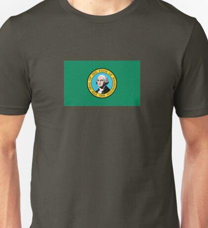 Washington State Flag USA Seattle Bedspread T-Shirt Sticker Unisex T-Shirt