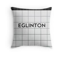EGLINTON Subway Station Throw Pillow