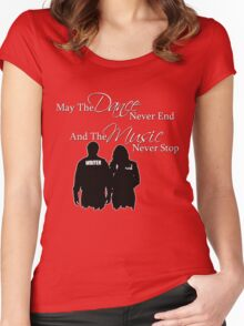 May the Dance Never End Women's Fitted Scoop T-Shirt