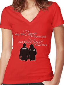 May the Dance Never End Women's Fitted V-Neck T-Shirt