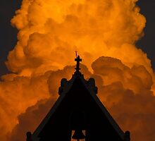 Itzimna on Fire Clouds by Mario Morales Rubi