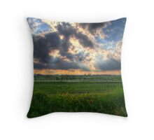 A Beautiful End to a Beautiful Day Throw Pillow