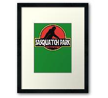 Sasquatch Park Bigfoot Parody T Shirt Framed Print