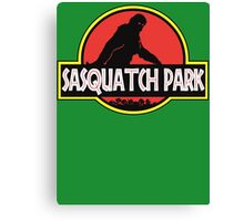 Sasquatch Park Bigfoot Parody T Shirt Canvas Print
