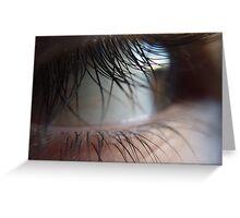 A closer look at the lash (super macro) Greeting Card