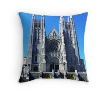 St. Peter & Paul's Basilicca in Lewiston, ME Throw Pillow