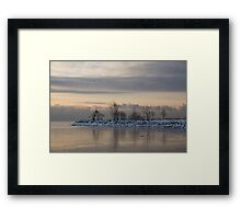 Pale, Still Morning on Lake Ontario Framed Print