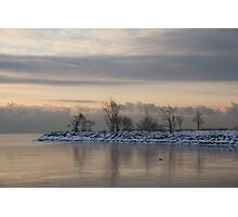 Pale, Still Morning on Lake Ontario Photographic Print