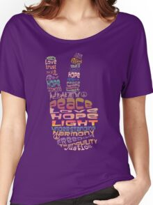 Peace tshirts Women's Relaxed Fit T-Shirt
