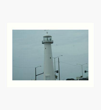 Biloxi Lighthouse Art Print