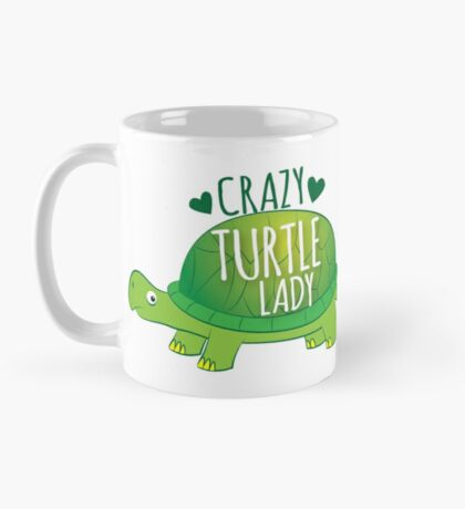 Crazy Turtle Lady with green sea turtle Mug