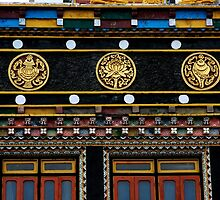 gompa wall by tim buckley | bodhiimages