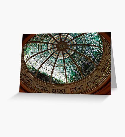 Pennsylvania Supreme Court Chamber Dome Greeting Card