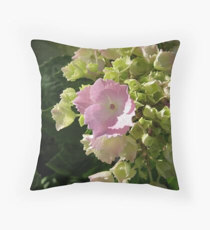 I'm just beginning to bloom Throw Pillow