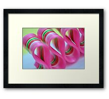 Ribbon Candy:  Pink Framed Print
