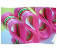 Ribbon Candy:  Pink Poster