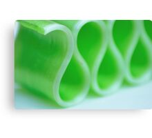Ribbon Candy:  Green Canvas Print