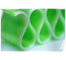 Ribbon Candy:  Green Poster