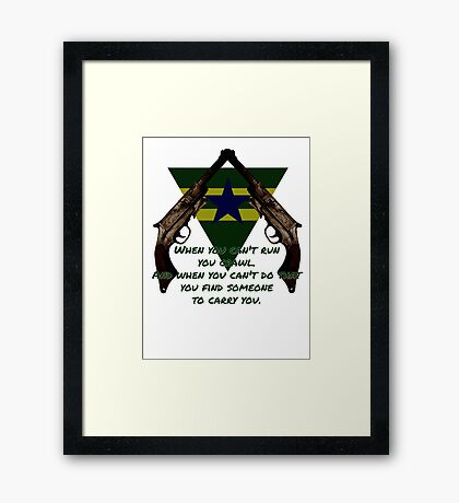 Browncoat Creed Framed Print