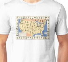Amazing map of 'Herbal Cures' from 1932 Unisex T-Shirt