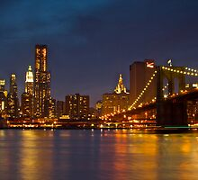 Manhattan from Brooklyn by zarkhoc