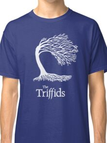 Triffids tree and logo in white - tree by Martyn P Casey Classic T-Shirt